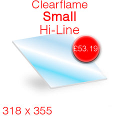 Clearflame Small Hi-Line Stove Glass