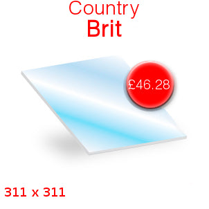Country Brit Stove Glass - 311mm x 311mm