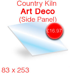Country Kiln Art Deco (Side Panel) Stove Glass - 83mm x 253mm