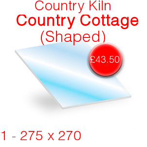 Country Kiln Country Cottage Stove Glass - 275mm x 270mm (shaped)