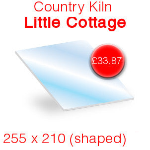 Country Kiln Little Cottage Stove Glass - 255mm x 210mm (shaped)