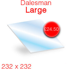 Dalesman Large Stove Glass - 232mm x 232mm