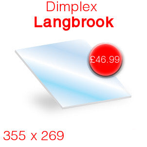 Dimplex Langbrook Stove Glass - 355mm x 269mm