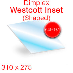 Dimplex Westcott Inset (Shaped) Stove Glass