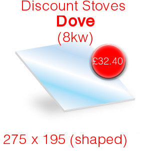 Discount Stoves Dove 8kW Stove Glass - 275mm x 195mm (shaped)
