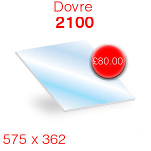 Dovre 2100 Stove Glass - 575mm x 362mm