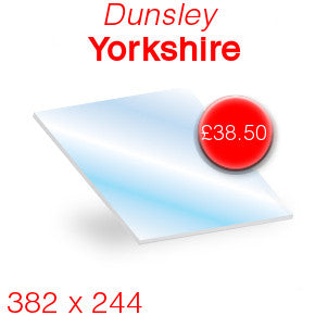 Dunsley Yorkshire Stove Glass - 382mm x 244mm