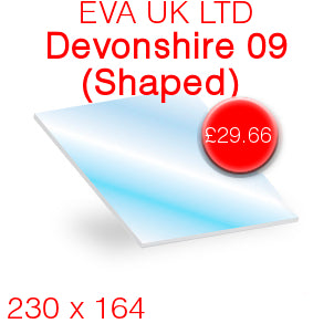 EVA UK LTD Devonshire 09 Stove Glass - 230mm x 164mm (Shaped)