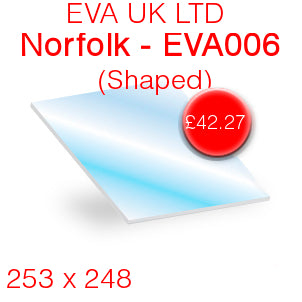 EVA UK LTD Norfolk EVA006 Stove Glass - 253mm x 248mm (Shaped)