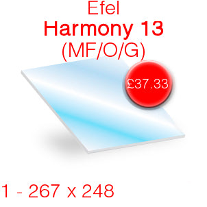 Efel Harmony 13 (MF/O/G) Stove Glass - 267mm x 248mm (Shaped)