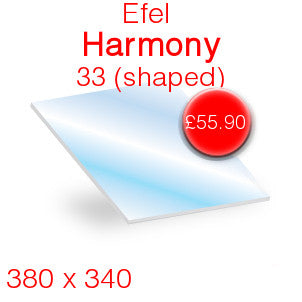 Efel Harmony 33 Stove Glass - 380mm x 340mm (Shaped)