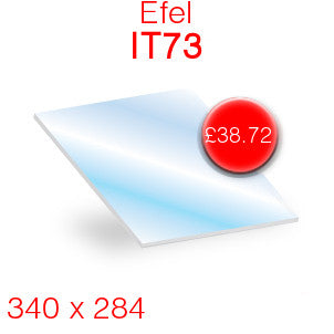 Efel IT73 Stove Glass  - 340mm x 284mm