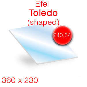 Efel Toledo Stove Glass - 360mm x 230mm (Shaped)