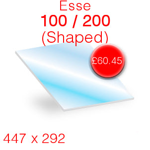 Esse 100 / 200 Stove Glass - 447mm x 292mm (Shaped)
