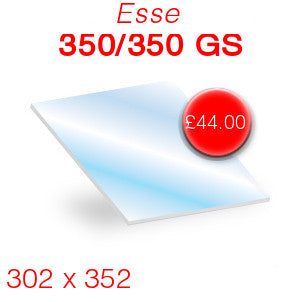 Esse 350/350 GS Stove Glass - 302mm x 352mm