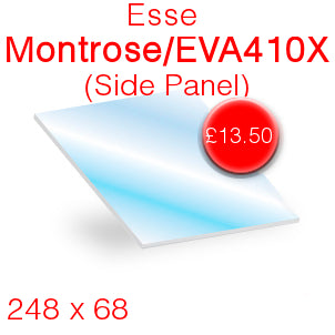 Esse Montrose (Side Panel) Stove Glass - EVA410X - 248mm x 68mm