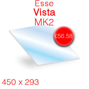 Esse Vista Mk2 Stove Glass - 450mm x 293mm