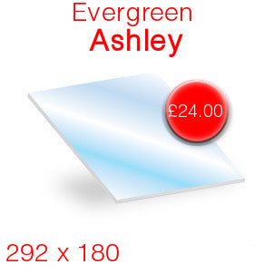 Evergreen Ashley Stove Glass - 292mm x 180mm