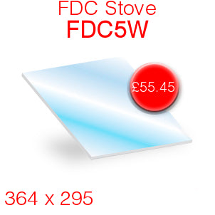 FDC Stoves FDC5W Stove Glass - 364mm x 295mm
