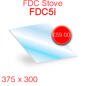 FDC Stoves FDC5i Stove Glass - 375mm x 300mm