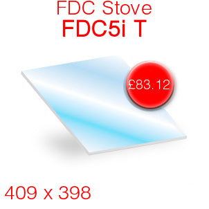 FDC Stoves FDC5i T Stove Glass - 409mm x 398mm