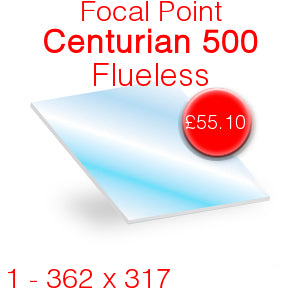 Focal Point Centurian 500 Flueless Stove Glass - 362mm x 317mm