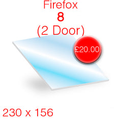 Firefox 8 (2 Door) Stove Glass