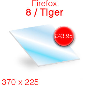 Firefox 8 / Tiger Stove Glass - 370mm x 225mm
