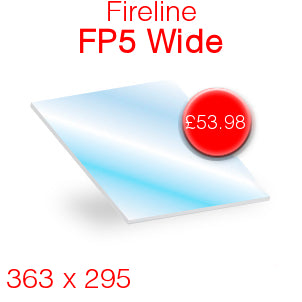 Fireline FP5 Wide Stove Glass - 363mm x 295mm