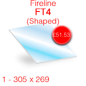 Fireline FT4 (Shaped) Stove Glass - 305mm x 269mm