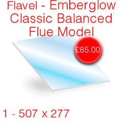 Flavel Emberglow Classic Balanced Flue Stove Glass