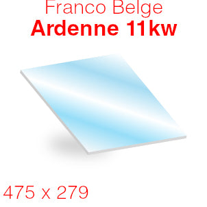 Franco Belge Ardenne 11kW Stove Glass - 475mm x 279mm (curved)
