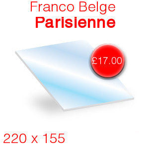 Franco Belge Parisienne Stove Glass - 220mm x 155mm