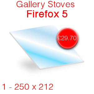 Gallery Stoves Firefox 5 Stove Glass - 250mm x 212mm