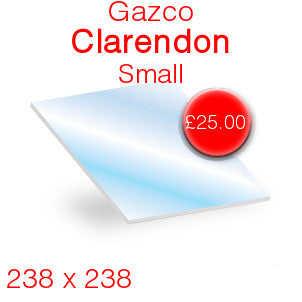 Gazco Clarendon Small Stove Glass - 238mm x 238mm