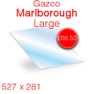 Gazco Marlborough Large Stove Glass - 527mm x 281mm