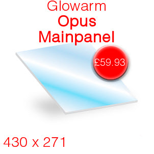Gloworm Opus (Main Panel) Stove Glass - 430mm x 271mm