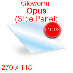 Gloworm Opus (Side Panel) Stove Glass - 270mm x 118mm