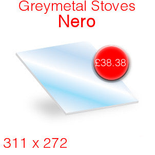 Greymetal Nero Stove Glass - 311mm x 272mm