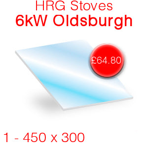 HRG Stoves 6kW Stove Glass - 450mm x 300mm
