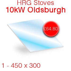 HRG Stoves 10kW Oldsburgh Stove Glass - 450mm x 300mm