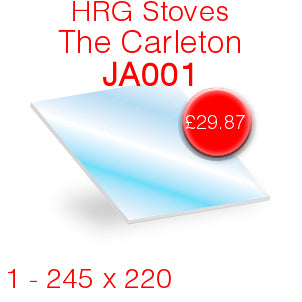 HRG Stoves The Carleton (JA001) Stove Glass - 245mm x 220mm