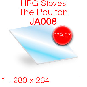 HRG Stoves The Poulton (JA008) Stove Glass - 280mm x 264mm