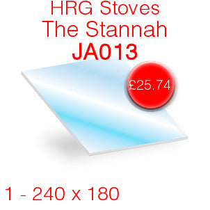 HRG Stoves The Stannah (JA013) Stove Glass - 240mm x 180mm