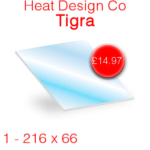 Heat Design Co Tigra Stove Glass - 216mm x 66mm