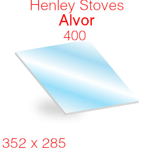 Henley Stoves Alvor 400 Stove Glass - 352mm x 285mm