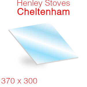Henley Stoves Cheltenham Stove Glass - 370mm x 300mm