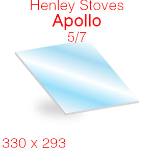 Henley Stoves Apollo 5/7 Stove Glass - 330mm x 293mm