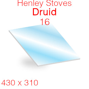 Henley Stoves Druid 16 Stove Glass - 430mm x 310mm