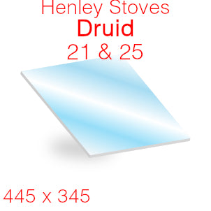 Henley Stoves Druid 21 & 25 Stove Glass - 445mm x 345mm